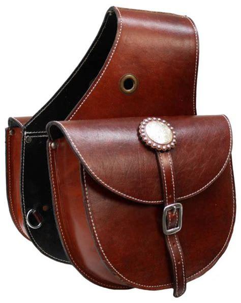 saddle horse leather western bag bags showman tack grain saddles oil cowboy satteltaschen medium single saddlebags horn taschen motorcycle equine