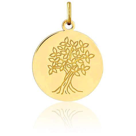 m 233 daille motif arbre de vie or jaune 18k argyor