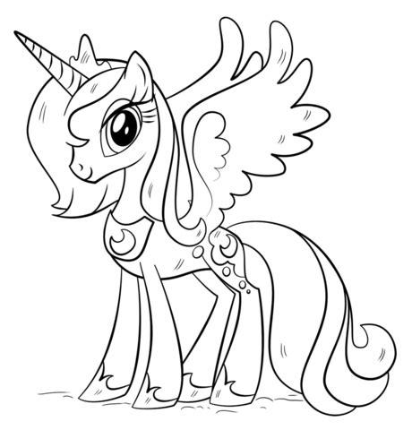 disegni da colorare degli unicorni princess luna