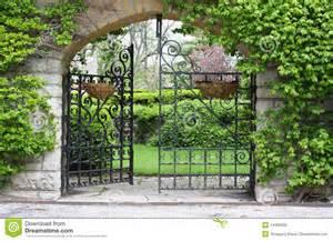 Partially Open Gate Garden