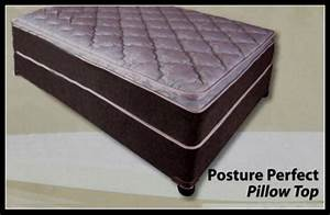 beds double or queen quot posture perfect quot pillow top base With double pillow top queen mattress set