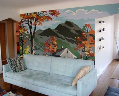 before after cheryl s mural wall design sponge