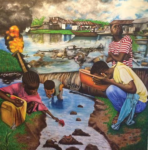 oil africans wealth  woe painting   yemi tubi