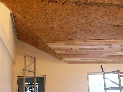 Basement Wood Ceiling