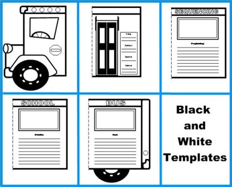 school bus templates creative writing lesson