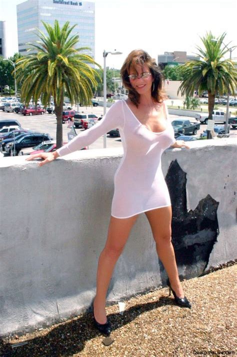 Sexy Little White Seethrough Dress On Milf Deauxma Porn