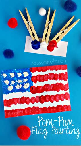pom pom american flag painting craft for and 212 | 84f6ea038a018499eddb07f21eeea6a0