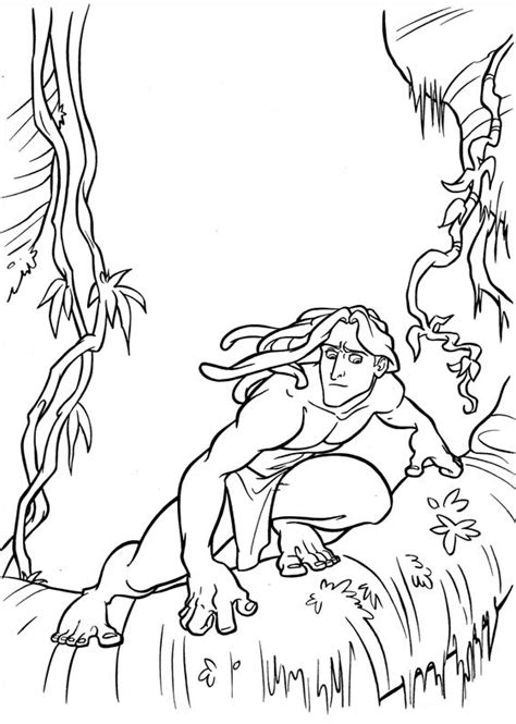 tarzan coloring pages  coloring pages  kids