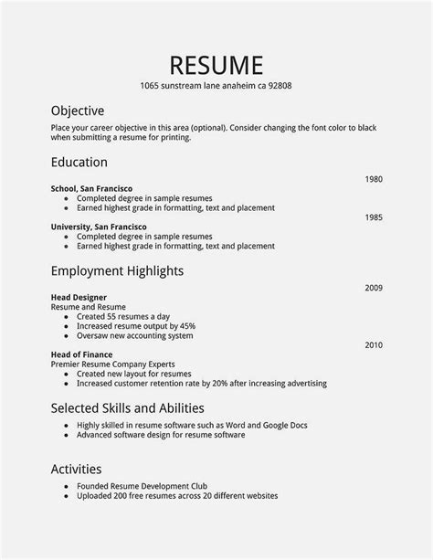cv template for a 17 year resume template cover