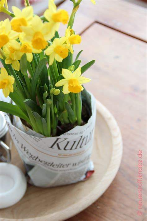 blumentöpfe gestalten mit kindern kultur pflanze blumentopf aus papier diy