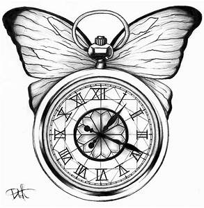 Drawn compass pocket watch drawing - Pencil and in color ...