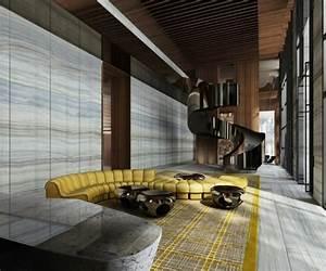 le canape d39angle arrondi comment choisir la meilleure With tapis moderne avec canapé cuir jaune