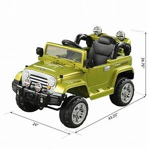 Aosom 12v Jeep Style Kids Electric Battery Powered Ride On Car Truck W   Remote Control
