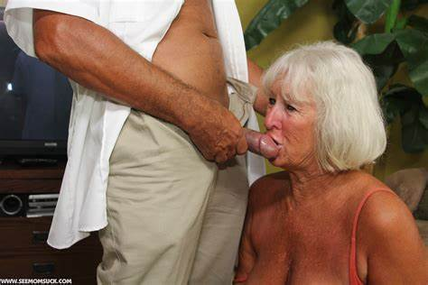 Immature Grandma Forcing His Pole Granny Jeannie Lou Blowjob A Security Guards Pole