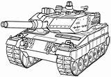 Coloring Tank Army Pages Printable sketch template
