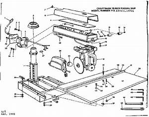 Craftsman Model 113197601 Saw Radial Genuine Parts