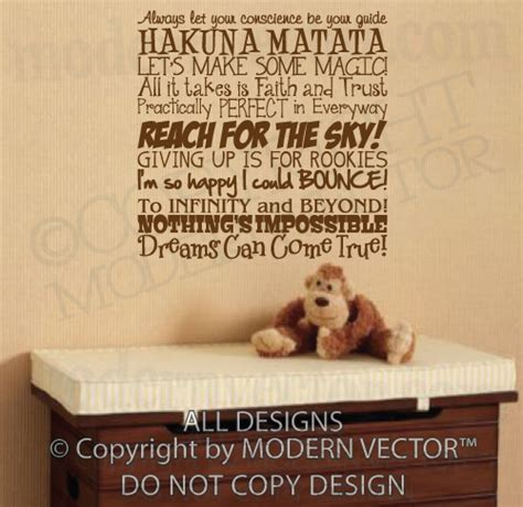 Disney Quotes For Bedroom Walls by Disney Quotes Vinyl Wall Decal Lettering Boy
