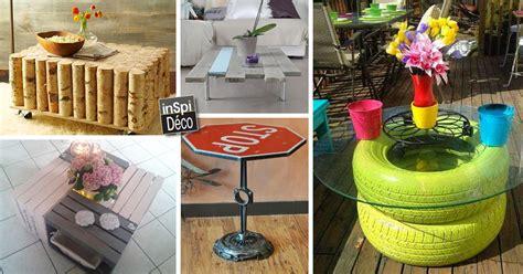 bureau recup une table basse avec des matériaux de récup 20 idées
