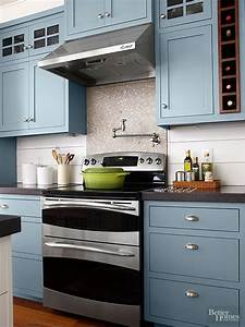 80 cool kitchen cabinet paint color ideas With kitchen colors with white cabinets with ocean wave wall art