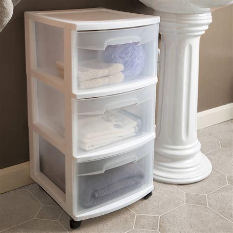 storage plastic drawers sterilite 3 drawer cart set of 2 storage organizer