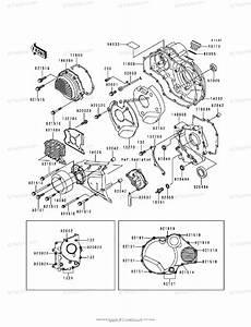 Kawasaki Motorcycle 2000 Oem Parts Diagram For Engine