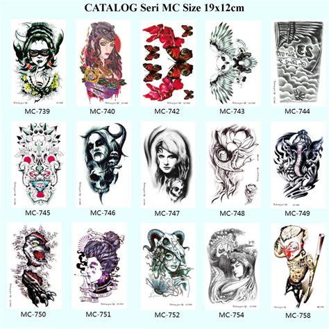jual beli catalog tato tatto temporary temporer sticker