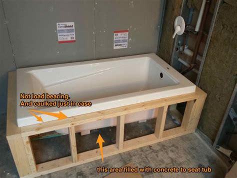 drop  tub tiling lip  frame   tile