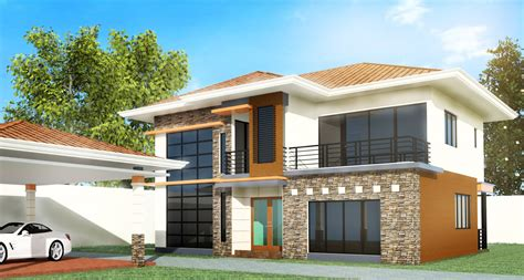 3 Bedroom House In by Model 4 3 Bedroom 2 Story Design Negros Construction