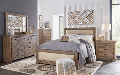 Rustic Gray Bedroom Sets by Pine Gray Casual Rustic 6 Bedroom Set