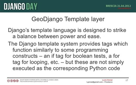Django Template Language by Geodjango