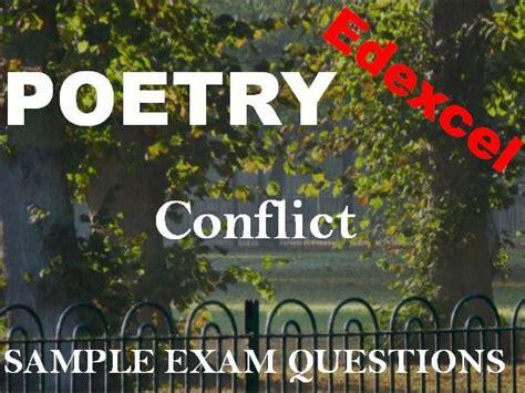 edexcel conflict poetry sample exam questions edexcel