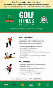 Golf Fitness Program by Gold's Gym – The Orchard Golf ...