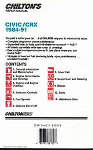 Chilton Honda Civic Crx 1984
