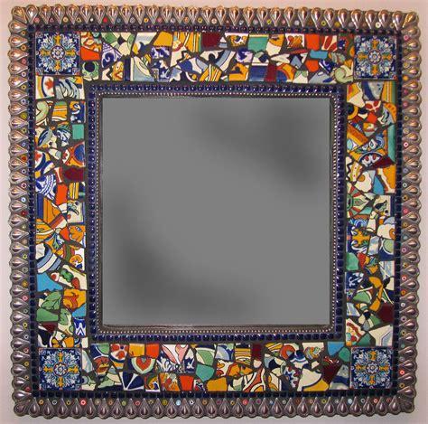mexican tile mosaic mirror  emily hickman