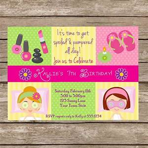 free printable pamper party invitations b day With pamper party invite template
