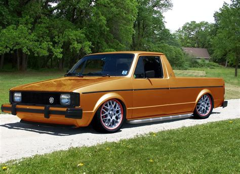 volkswagen rabbit slammed vw rabbit truck motores pinterest trucks