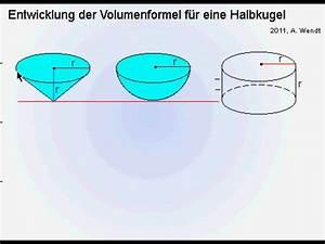 Kugel Berechnen Formel : volumenformel einer kugel vereinfacht youtube ~ Themetempest.com Abrechnung