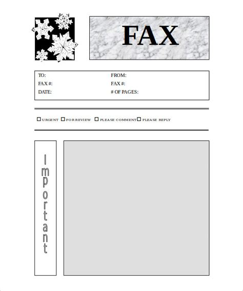 printable fax cover sheet templates  sample