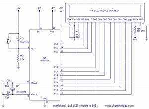 Interfacing 16x2 Lcd With 8051 Microcontroller  Lcd Module