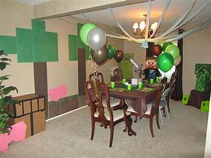 party decorations with Minecraft theme Minecraft Party