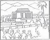 Lds Temple Coloring Visit Church Bible sketch template