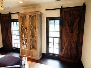 classic x brace plank barn door With barn doors over windows