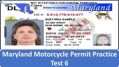 Maryland Motorcycle Permit Practice Test 6 Youtube