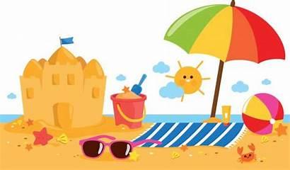 Beach Umbrella Sandcastle Summer Banner Towel Vacation
