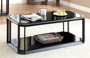 furniture of america carlisle black tempered glass storage With black glass coffee table with storage