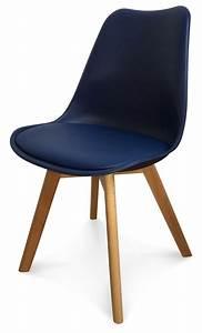 Chaise Bleu Marine : chaise design scandinave bleu marine keny lot de 2 ~ Teatrodelosmanantiales.com Idées de Décoration
