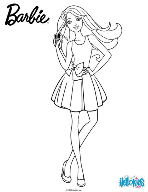 barbie coloring pages  toddlers phr