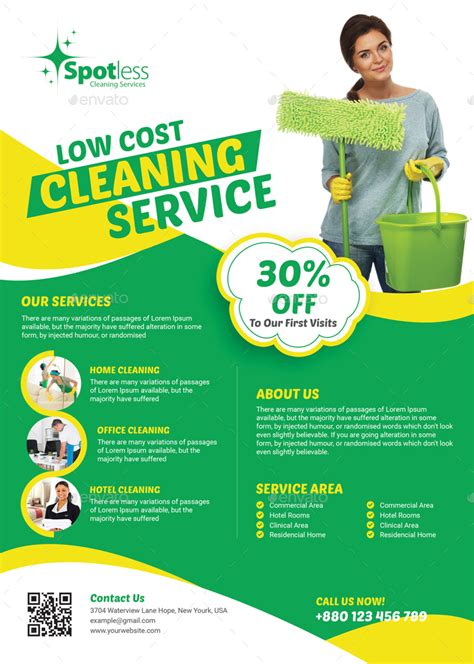 cleaning services flyer  themexone graphicriver
