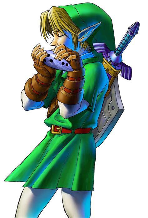Legend of Zelda Link Playing Ocarina