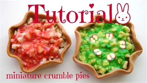 Tutorial  How To Make A Crumble Pie For Dolls Fashion